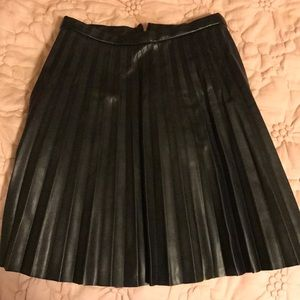 J Crew Leather Skirt